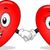 heart couple mascots stock photo © lenm
