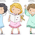 cute · cartoon · anges · isolé · heureux · Kid - photo stock © lenm