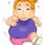 kid girl fat jogging stock photo © lenm