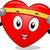 сердце · талисман · осуществлять · иллюстрация · гантели - Сток-фото © lenm