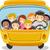 vektör · okul · otobüsü · çocuklar · kız · yol · okul - stok fotoğraf © lenm
