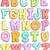 アルファベット · いたずら書き · 実例 · 子供演奏 · 巨人 · 文字 - ストックフォト © lenm