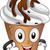 gelato · mascotte · illustrazione · vaniglia · sundae · sciroppo · di · cioccolato - foto d'archivio © lenm