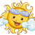 zon · verbergen · achter · wolken · illustratie · hemel - stockfoto © lenm