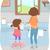 çocuk · yardım · temizlik · cam · tablo - stok fotoğraf © lenm