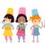 főzés · gyerekek · illusztráció · osztály · szakács · fiú - stock fotó © lenm