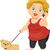 idős · elvesz · kutya · séta · illusztráció · idős · nő - stock fotó © lenm