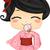 asiático · menina · casamento · cara · casamento - foto stock © lenm