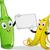 banana and bottle mascot stock photo © lenm