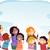 Cartoon · родителей · детей · дети · семьи · группа - Сток-фото © lenm