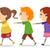 Kids Walking in One Line stock photo © lenm