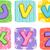 quilt alphabet letters u v w x y z stock photo © lenm