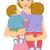 bébiszitter · gondozó · dajka · anya · vágási · körvonal · baba - stock fotó © lenm