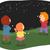 stickman kids studying constellations stock photo © lenm