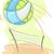 praia · voleibol · jogador · bola - foto stock © lenm