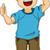 desenho · animado · menino · feliz · criança - foto stock © lenm