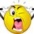 cartoon · infastidito · emoticon · sorriso · faccia - foto d'archivio © lenm