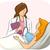 születés · előtti · illusztráció · pár · anyák · nő · baba - stock fotó © lenm