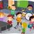 música · ninos · jugando · notas · nina · escuela - foto stock © lenm