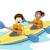 gyerekek · vadvizi · evezés · folyó · víz · gyerekek · boldog - stock fotó © lenm
