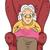 oma · oude · dame · gelukkig · gelukkig · stoel - stockfoto © lenm