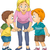 dzieci · argument · ilustracja · dziewczynka · chłopca · dzieci - zdjęcia stock © lenm