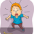 desenho · animado · assustado · homem · mão · projeto · louco - foto stock © lenm
