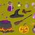 Хэллоуин · иконки · дизайна · Элементы · ретро · графических - Сток-фото © lenm