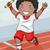 atlétika · játékos · férfi · vektor · sportos · sport - stock fotó © lenm