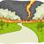 tornade · paysage · scène · illustration · ciel · résumé - photo stock © lenm