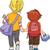 gyerekek · sétál · együtt · illusztráció · iskola · lány - stock fotó © lenm