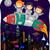 crianças · foguete · ilustração · alienígena · equitação · espaço - foto stock © lenm