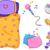 párnacsata · három · fiatal · lányok · szórakozás · buli - stock fotó © lenm