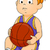 rajz · fiú · kosárlabda · illusztráció · játszik · gyerekek - stock fotó © lenm