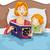 anya · olvas · mese · fiatal · történet · fiú - stock fotó © lenm