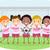 stickman kids soccer girls stock photo © lenm