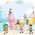 firka · gyerekek · gumiasztal · illusztráció · gyerekek · játszanak · lány - stock fotó © lenm