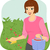 tuinman · meisje · vector · planten · collectie · pot - stockfoto © lenm