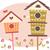 cute · vogel · huizen · vector · voorjaar - stockfoto © lenm
