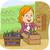 girl eggplant box stock photo © lenm