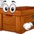 Wooden Box Mascot stock photo © lenm