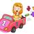 kid girl math symbols car stock photo © lenm