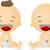 babák · nevet · illusztráció · férfi · női · gyerekek - stock fotó © lenm