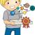 sistema · solar · modelo · ilustración · ninos · estudiar · escuela - foto stock © lenm