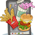 fast · food · online · om · illustratie · persoon · voedsel - stockfoto © lenm