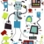 business robot doodles stock photo © lenm