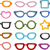 különböző · szemüveg · izolált · fehér · nap · szív - stock fotó © lenm