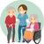 stickman seniors caregiver stock photo © lenm