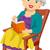senior · schommelstoel · illustratie · vergadering · vrouw - stockfoto © lenm