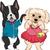 karikatür · köpek · elbise · sanat · Retro · çizim - stok fotoğraf © lenm